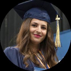Graduate smiling